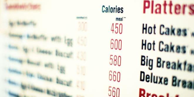 Calorie counts - calorías en menús