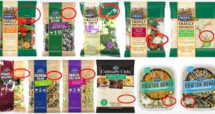 vegetable products recall-productos vegetales