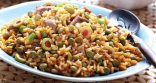 arroz con gandules-rice with pigeon peas