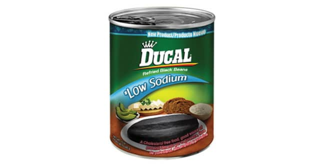 frijoles negros, Black Beans Low in Sodium