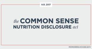 Common Sense Nutrition Disclosure Act, Ley de Divulgación de la Nutrición de Sentido Común