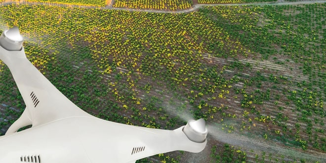 drone-agriculture - campo, sensors