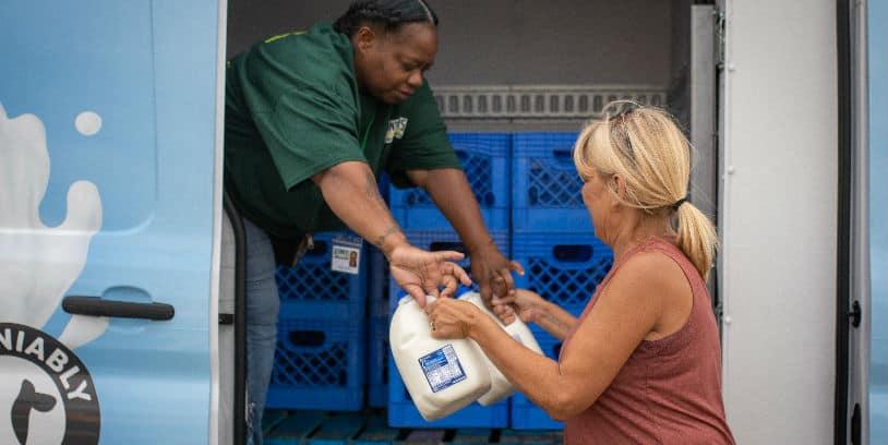 Kroger Dairy rescue program - programa de rescate de lácteos