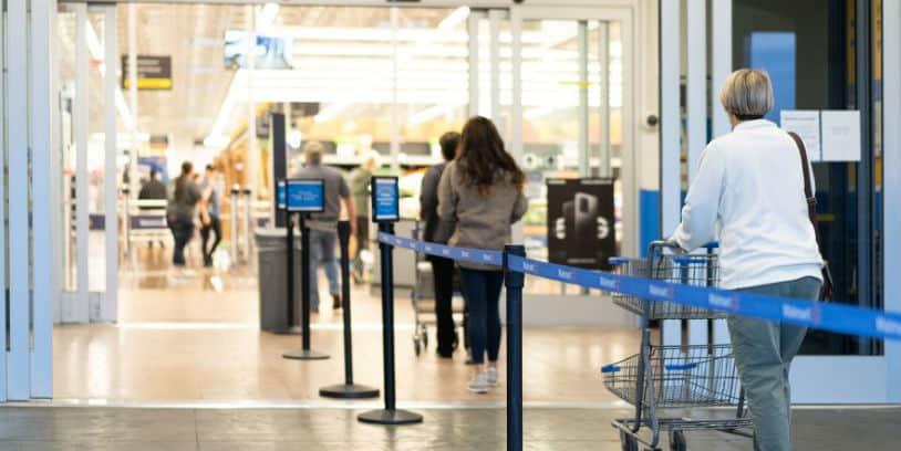 Walmart social distancing - distanciamiento social
