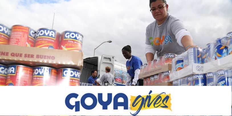 goya gives food donations coronavirus - donaciones de alimentos