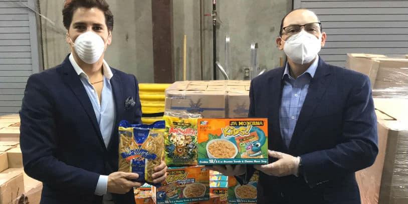 La Moderna USA food donation - donación de alimentos
