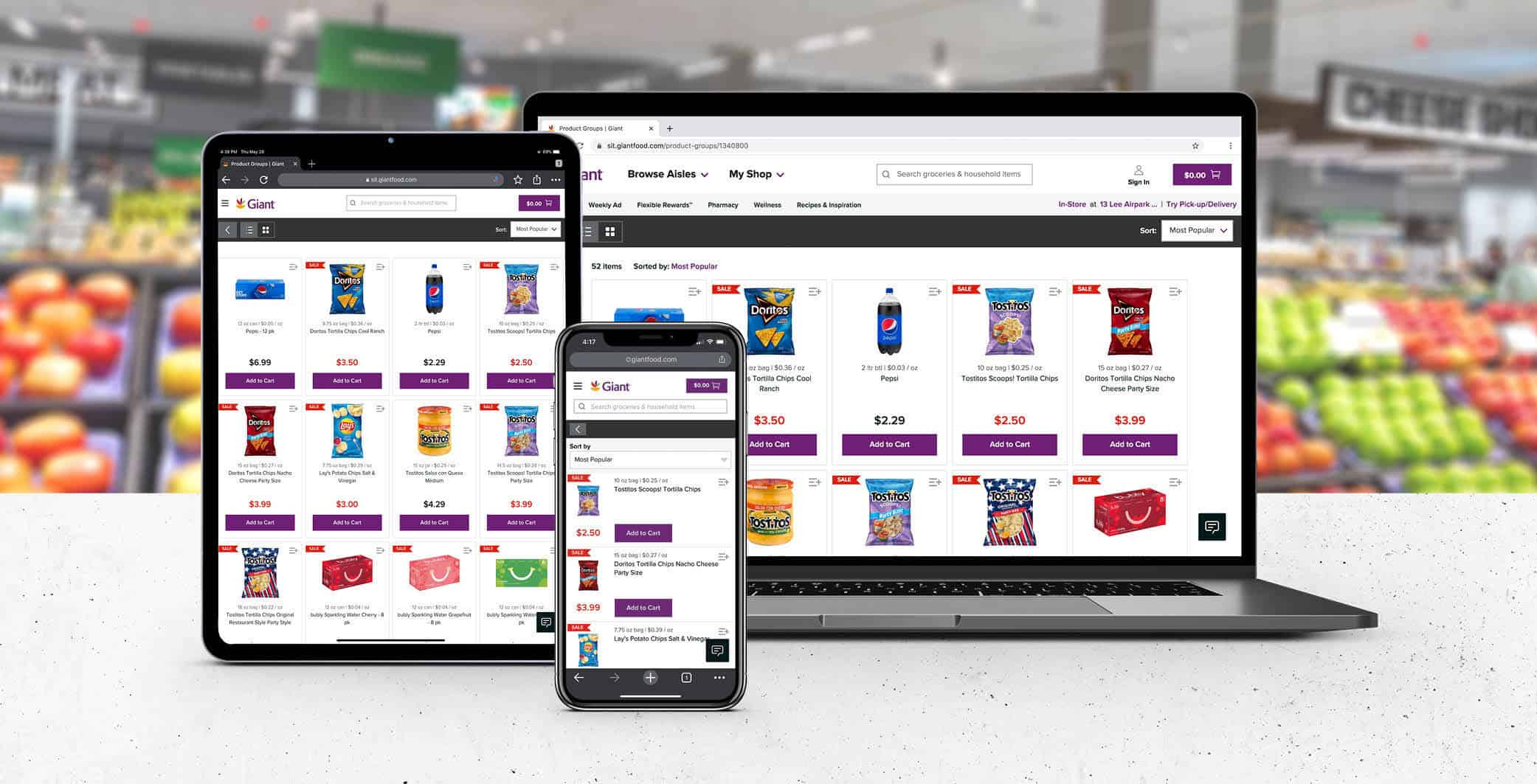 Giant Food eCommerce Platform