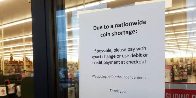 escasez de monedas