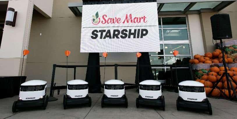 Save Mart robot delivery - Save Mart servicio de entrega robótica