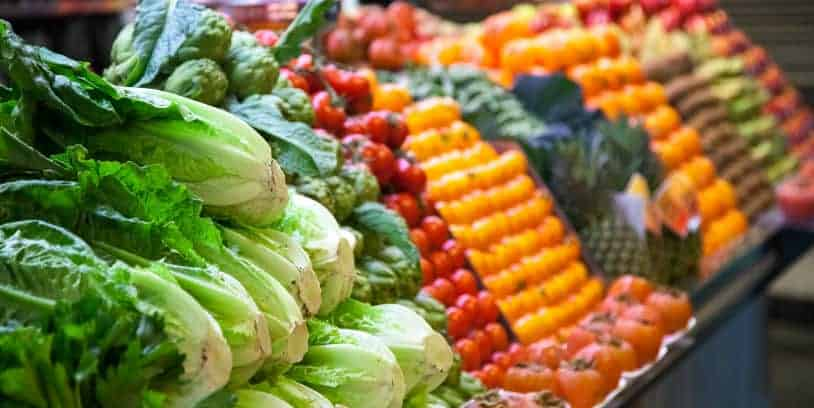 fruits and vegetables - frutas y verduras