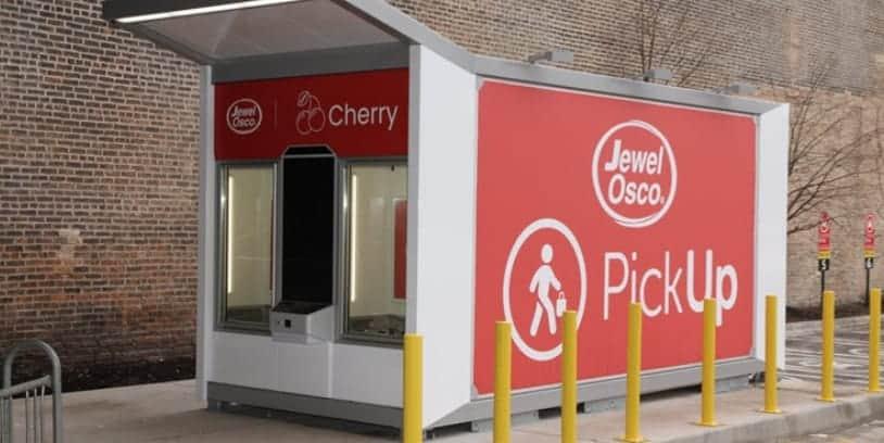 Albertsons grocery pickup kiosk - quiosco automatizado
