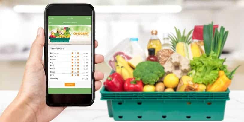 online grocery sales - ventas en línea de comestibles