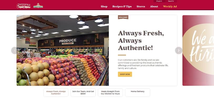 Cardenas Market website english