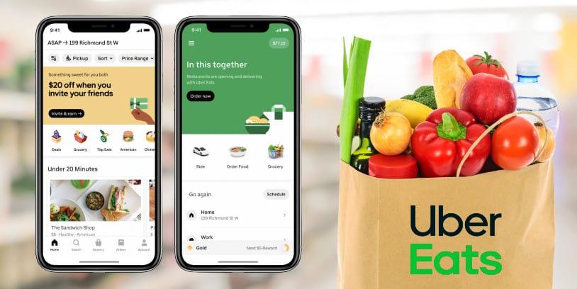 Uber - Albertsons -grocery delivery - entrega de comestibles