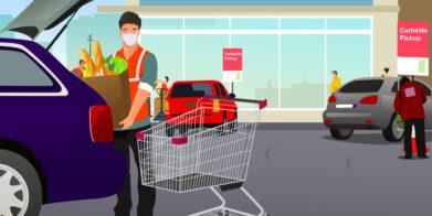 Encuesta Mercatus: Los servicios de recogida de comestibles aumentan, la entrega a domicilio se estanca