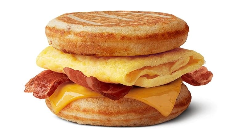 Bacon, Eggs and Cheese McGriddles