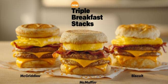 desayuno - McDonald's Triple Breakfast Stacks