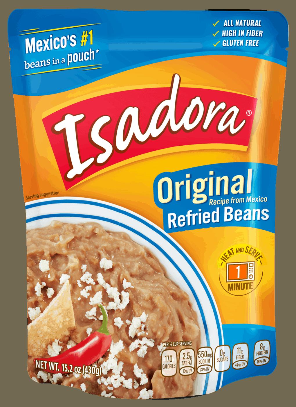 Isadora beans orginal recipe refried beans