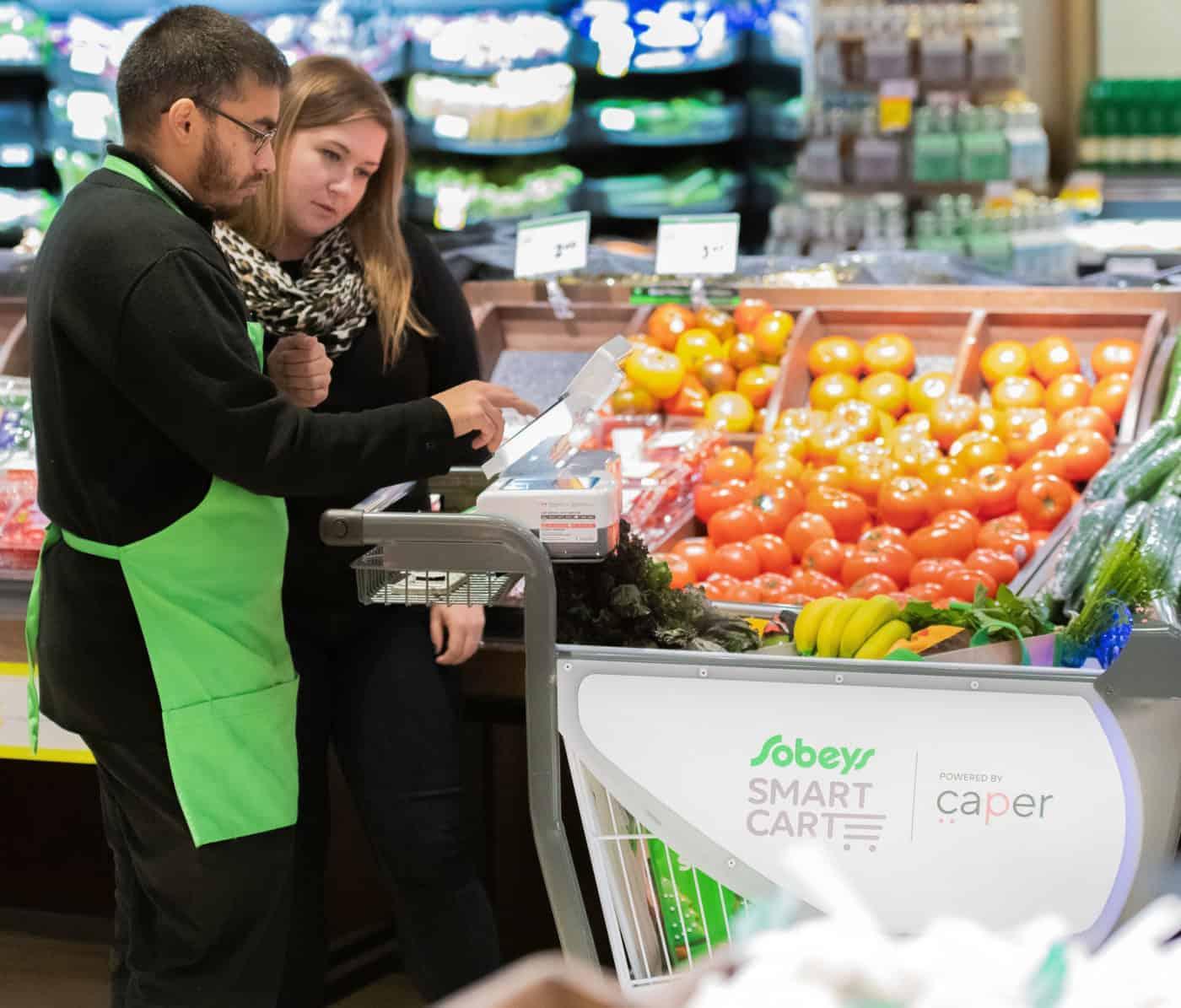 smart shopping cart- Caper ai