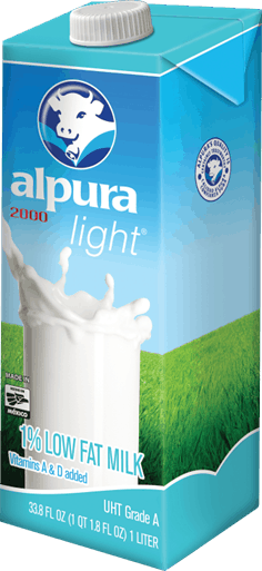 alpura light low fat milk