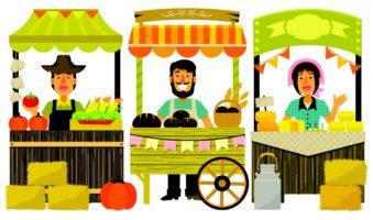 ¿Qué debe buscar un expositor de frutas y verduras al participar en ferias comerciales?