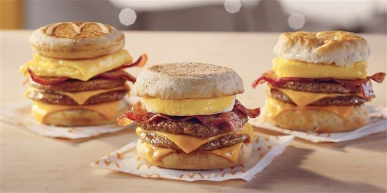 Triple Breakfast Stacks